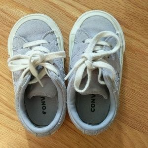 Converse baby girl suede sneakers size 5